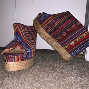 Shoes - Chinese Laundry Colorful Wedges